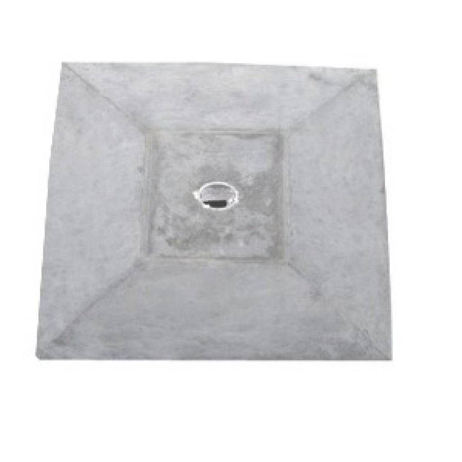 Paalmutsen met een plat stuk + gat 50x50 cm