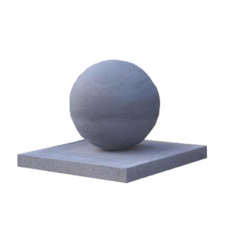 Paalmutsen vlak 24x24 cm met een bol van 12 cm