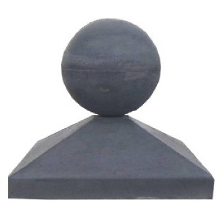 Paalmutsen 35x35cm met een bol van 12cm