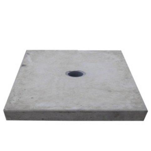 Paalmutsen vlak met een gat 20x20 cm
