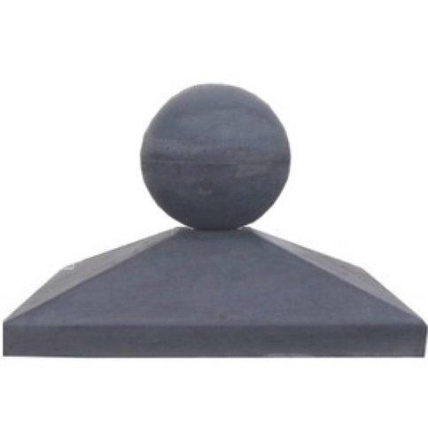 Paalmutsen van 37x37 cm met een bol van 12 cm