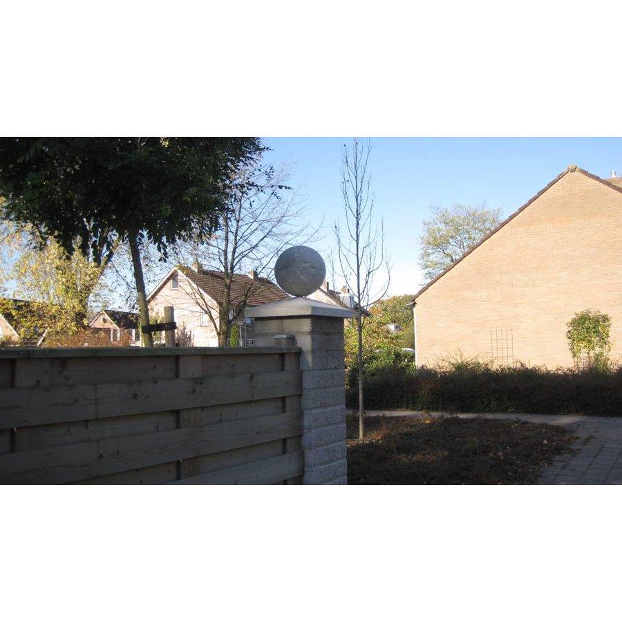 Paalmutsen van 37x37cm met een bol van 12cm