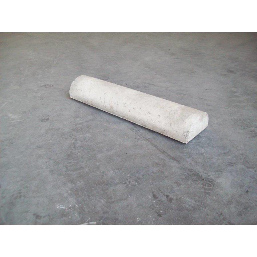 Varkensrug beton 2 kanten recht grijs