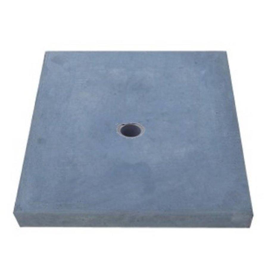 Paalmutsen vlak met een gat 35x44 cm