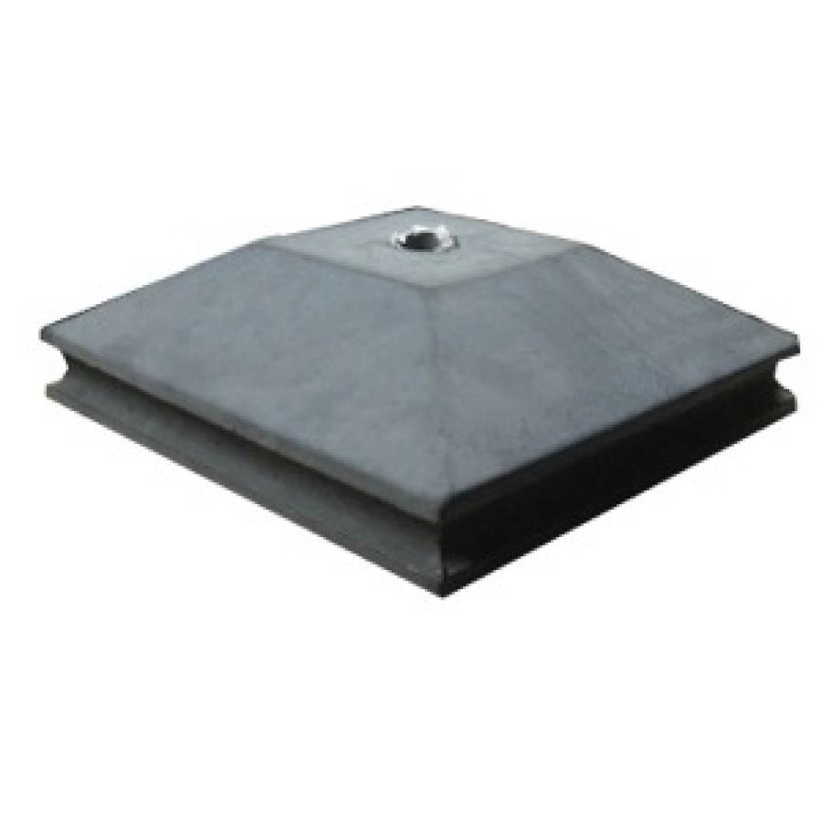 Paalmutsen met een sierrand met een plat stuk + gat 55x55 cm