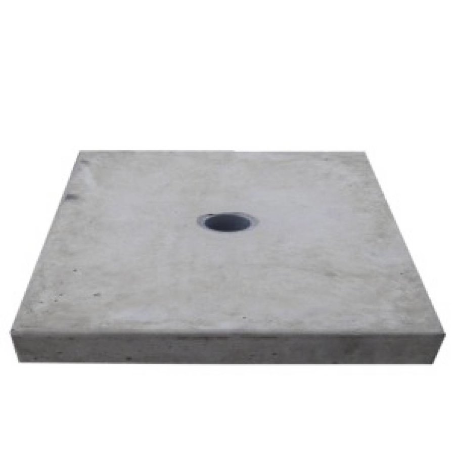Paalmutsen vlak met een gat 60x60 cm