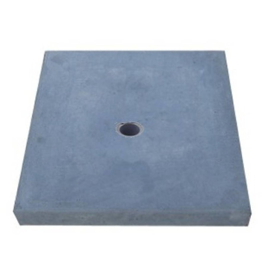 Paalmutsen vlak met een gat 65x65 cm