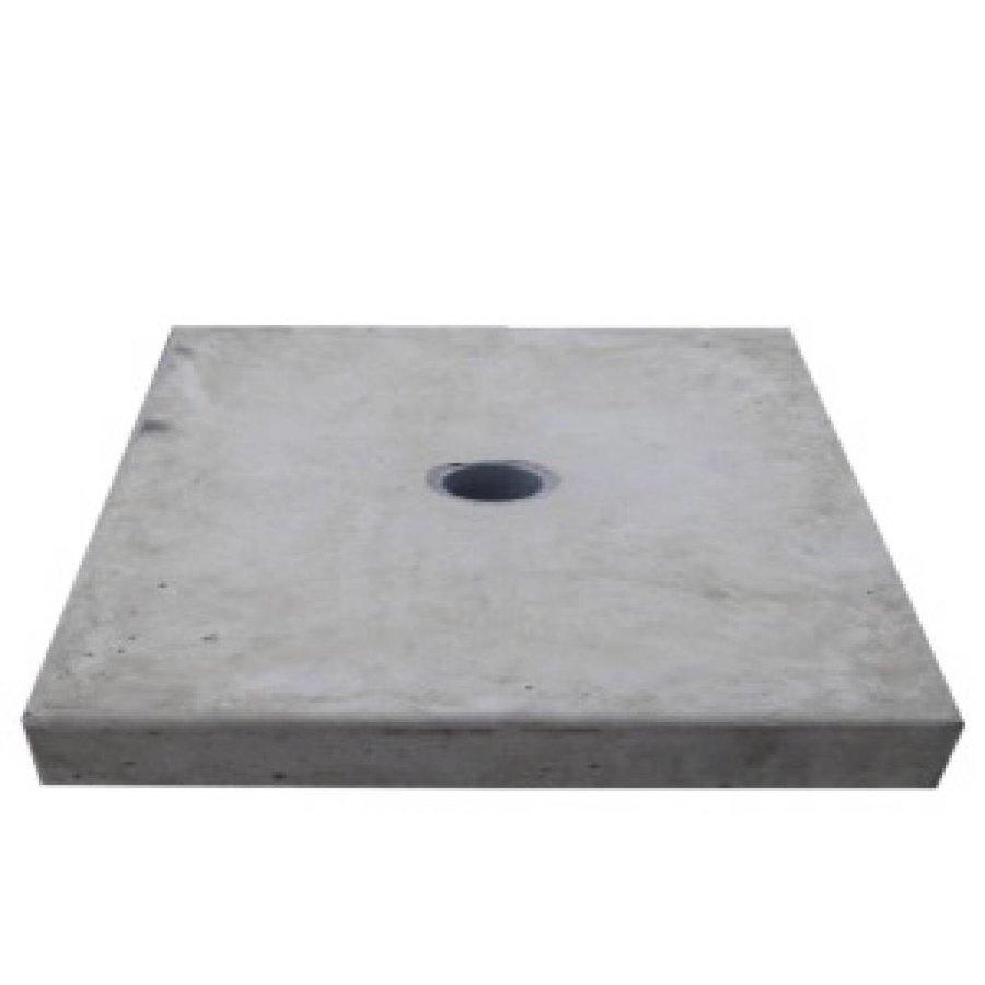 Paalmutsen vlak met een gat 118x118 cm