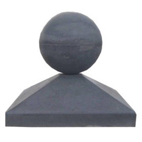 Paalmutsen 40x40 cm met een bol van 12 cm