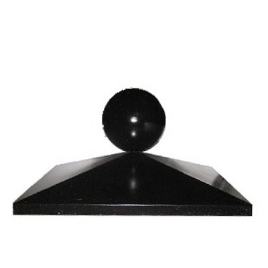 Paalmutsen 44x44 cm met een bol 12 cm