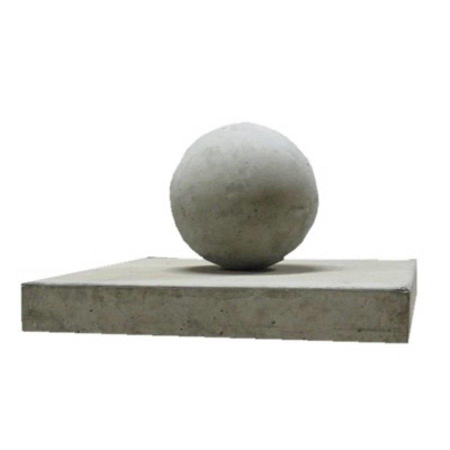Paalmutsen vlak 44x44cm met een bol 12cm