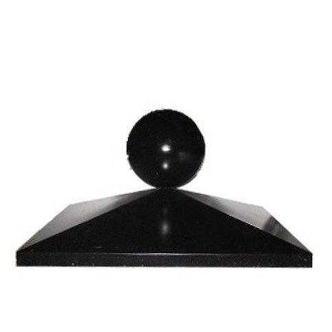 Paalmutsen 35x35 cm met een bol van14 cm