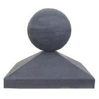 Paalmutsen 37x37cm met een bol 14cm