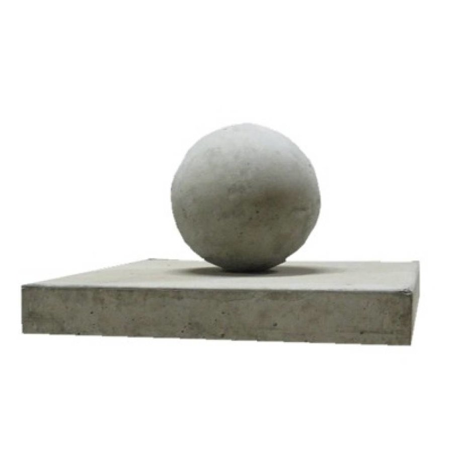Paalmutsen vlak 37x37 cm met een bol 14 cm