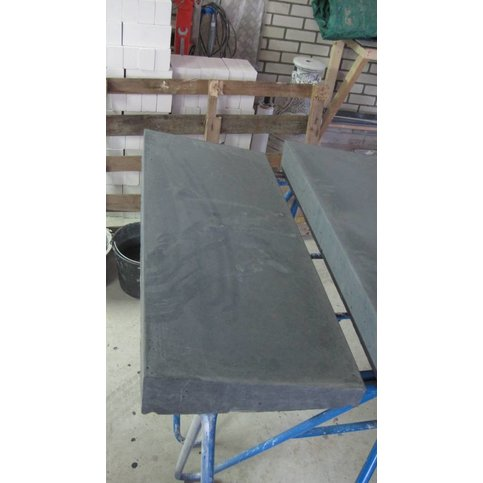 Muurafdekkers 1-zijdig, antraciet 33x100 cm