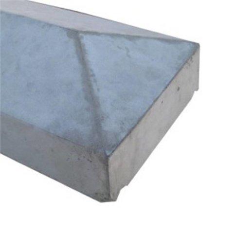 Muurafdekkers beton 2-zijdig grijs 25x100