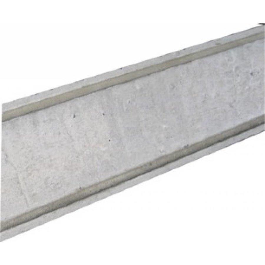 Muurafdekkers 2-zijdig, grijs 37x100 cm