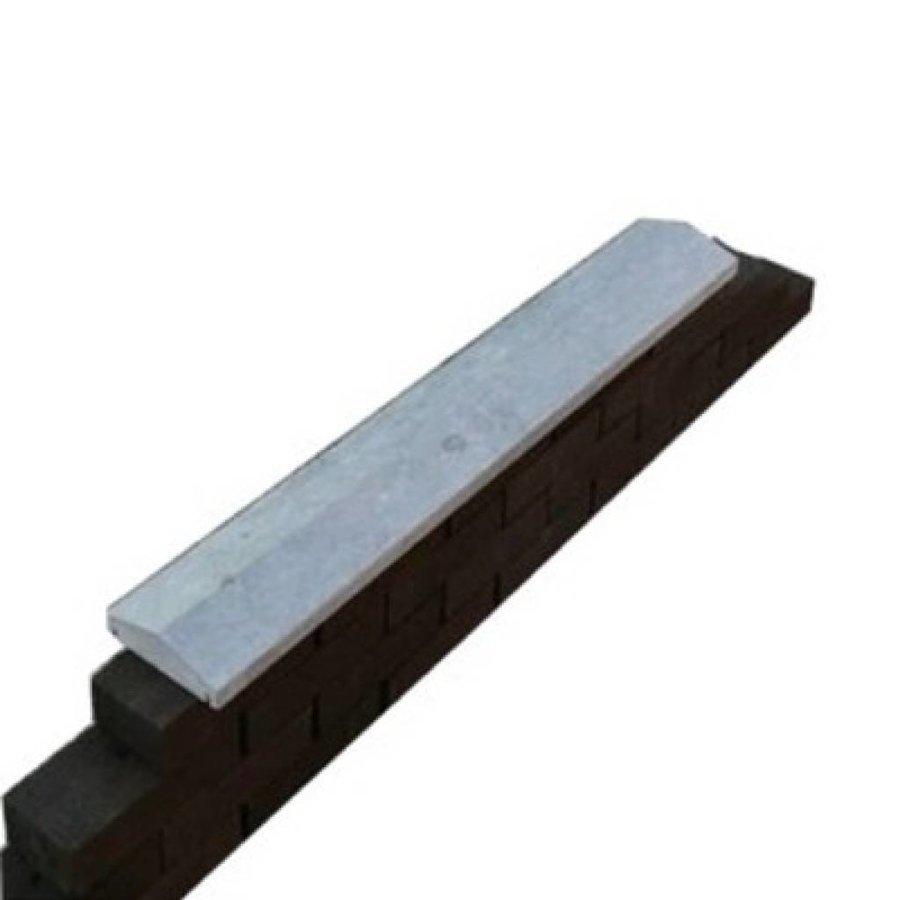 Muurafdekkers 2-zijdig, grijs 39x100 cm
