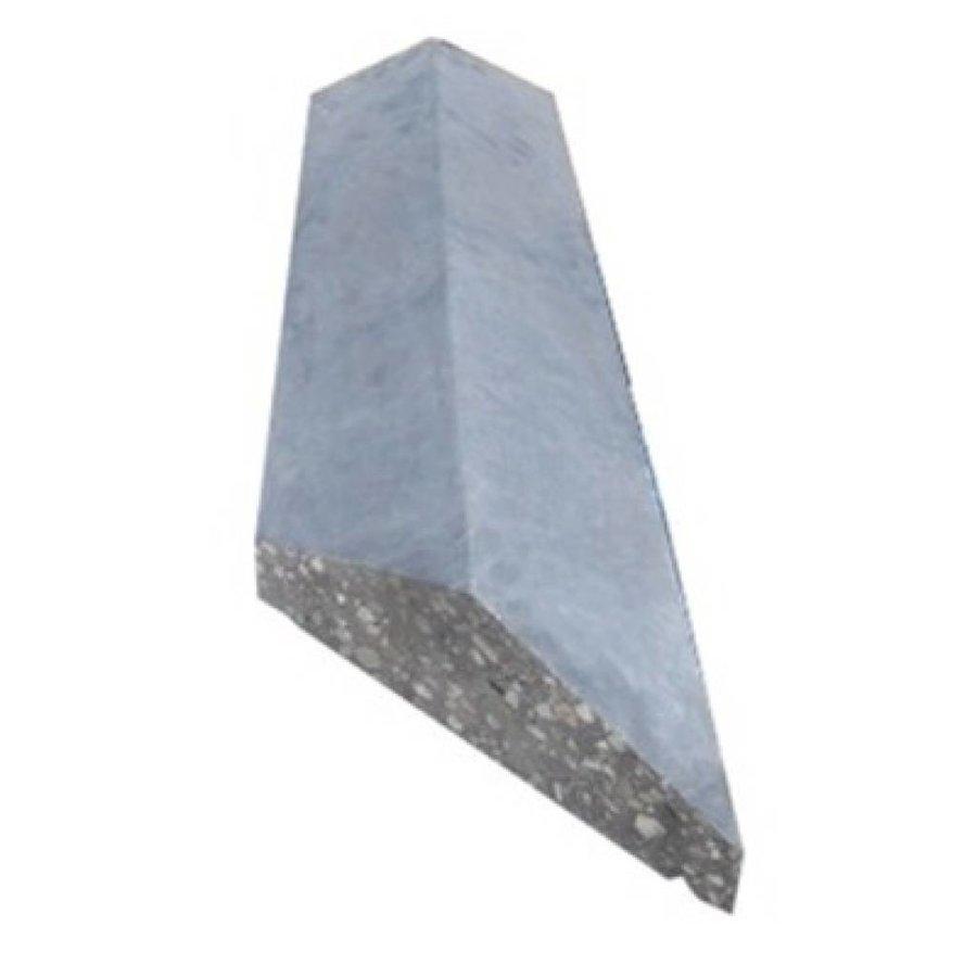 Muurafdekkers 2-zijdig, grijs 45x100 cm