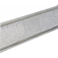 Muurafdekkers 2-zijdig, grijs 50x100 cm