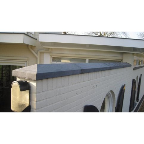 Muurafdekkers beton 2-zijdig antraciet 17x100