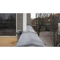 Muurafdekkers 2-zijdig, antraciet 25x100 cm