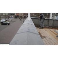 Muurafdekkers 2-zijdig, antraciet 30x100 cm