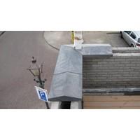 Muurafdekkers 2-zijdig, antraciet 45x100 cm