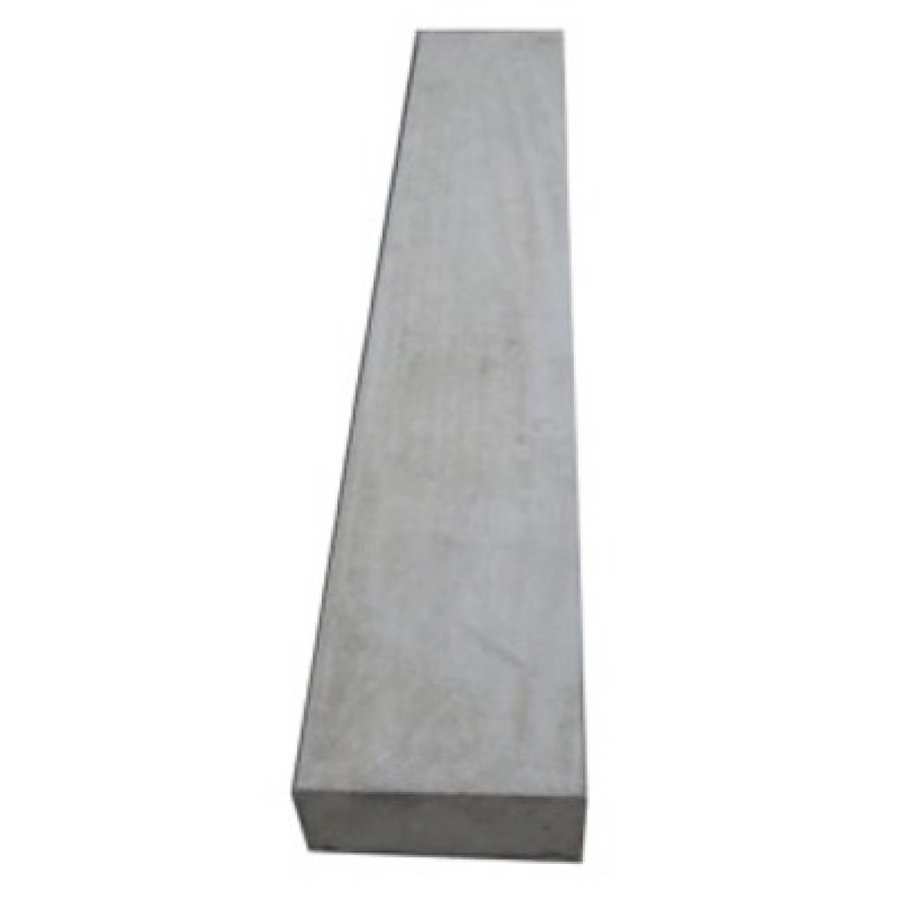 Muurafdekkers vlak, grijs 17 x 100 cm