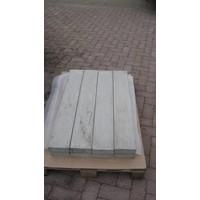 Muurafdekkers beton vlak grijs 25x100