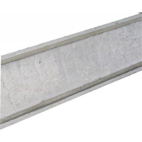 Muurafdekkers beton vlak grijs 40x100