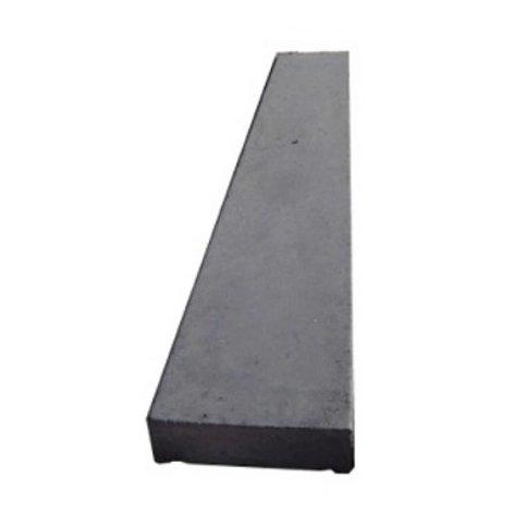 Muurafdekkers beton vlak antraciet 25x100