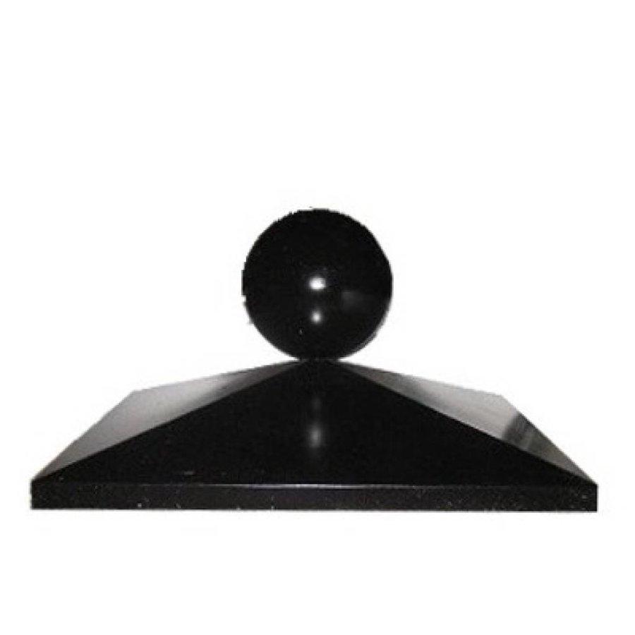 Paalmutsen 50x50 cm met een bol van 20 cm