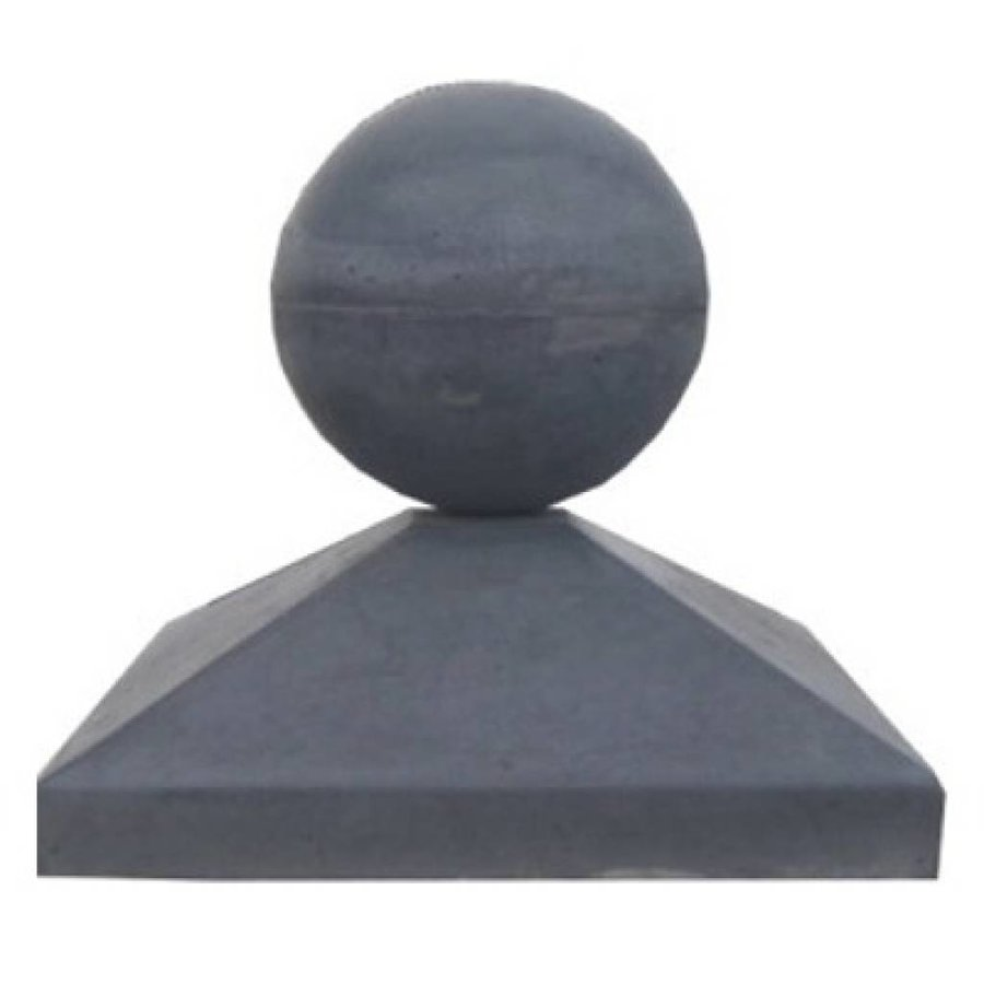 Paalmutsen 44x44 cm met een bol van 28 cm