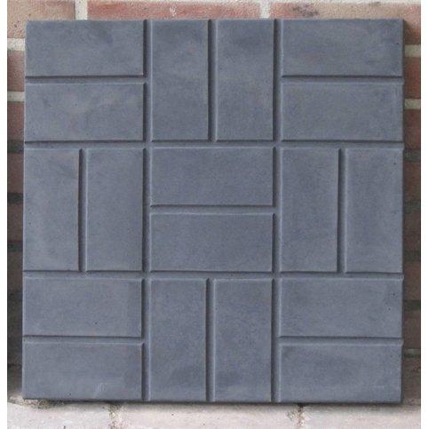 Vierkante staptegels relief