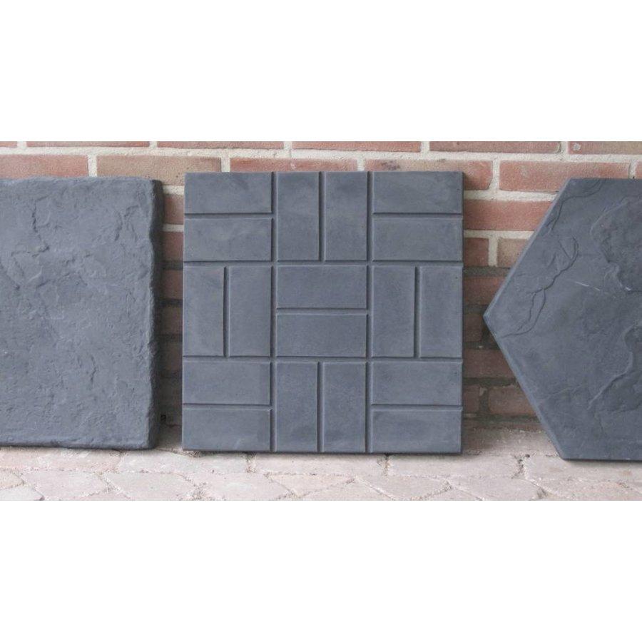 Staptegel vierkant reliëf
