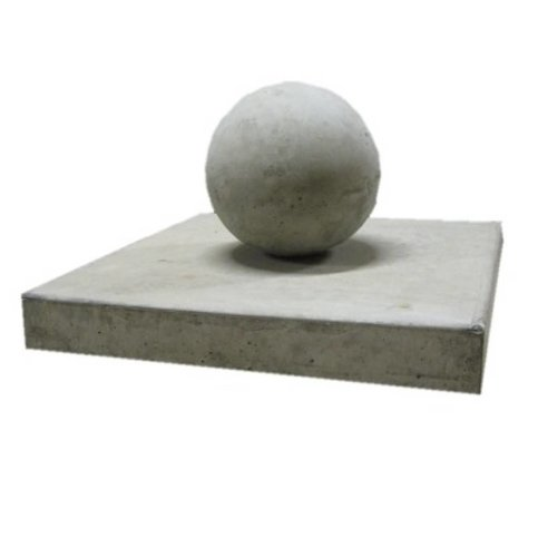 Paalmutsen vlak 60x60 cm met een bol van 28 cm