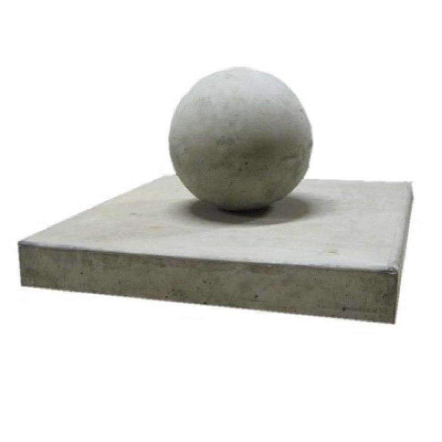 Paalmutsen vlak 33x33cm met een bol van 12cm