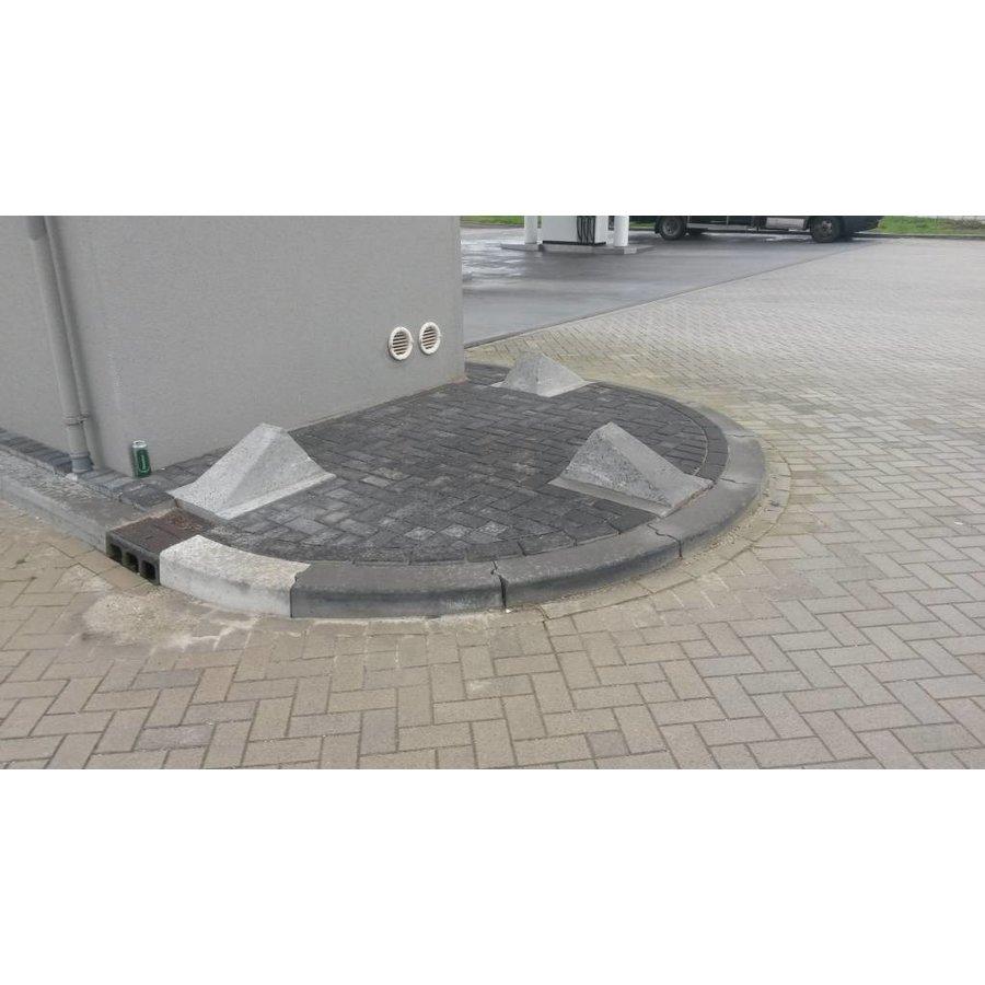 Schrikblok / schampblok 60x50x40 cm grijs