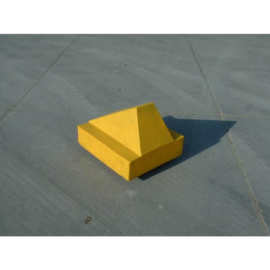 Schrikblok / schampblok 60x50x40 cm geel