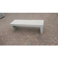 Tuinbank beton 150 cm wit/grijs