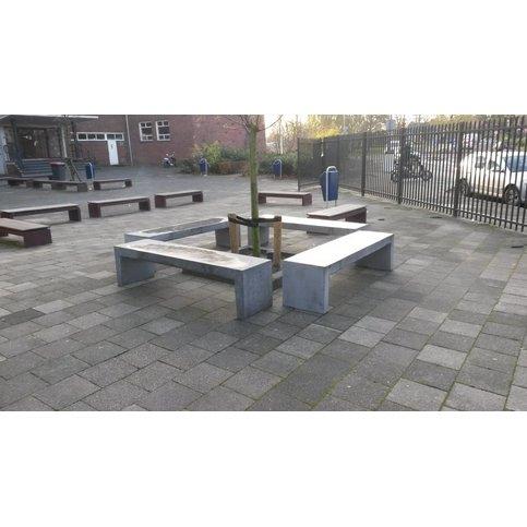 Tuinbank beton 180 cm grijs/antraciet