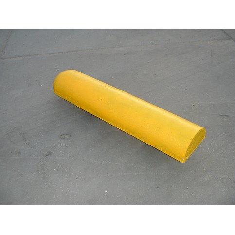 Varkensrug beton 1 kant rond en 1 kant recht geel