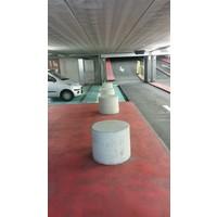 Betonnen poef Ø100 cm, H60 cm