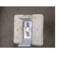 Prefab Betonpoer 22x22x45 cm met strippen