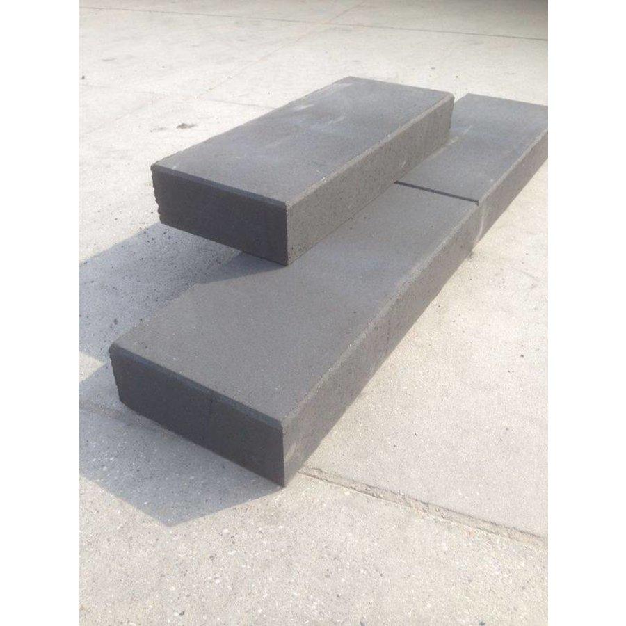 Traptreden antraciet 16x40x100 cm