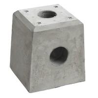 Prefab Betonpoer grijs met hwa 21x21x28 cm