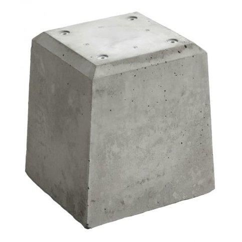 Betonpoer 21x21 en 28 cm hoog grijs