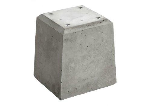 Prefab Betonpoer grijs 23x23x30 cm
