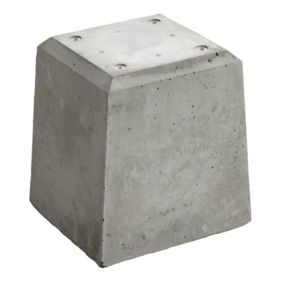 Prefab Betonpoer grijs 21x21x28 cm